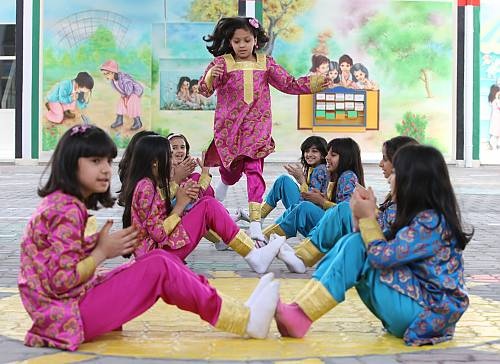 Girls' singing game played at school