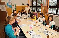 Zmijanje Embroidery making workshop in the Primary School