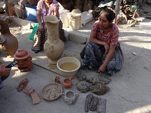Fieldwork with Maya-Pocomam craftswomen of Chinautla, Guatemala