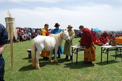Mongolian traditional practices of worshipping the sacred