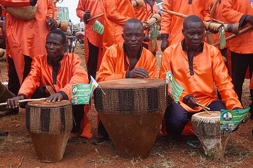 Bigwala players of the Basoga Kingdom