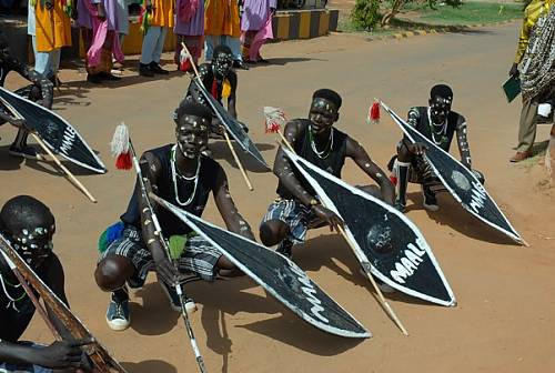 Members of the Maale Cultural Group in South Sudan
