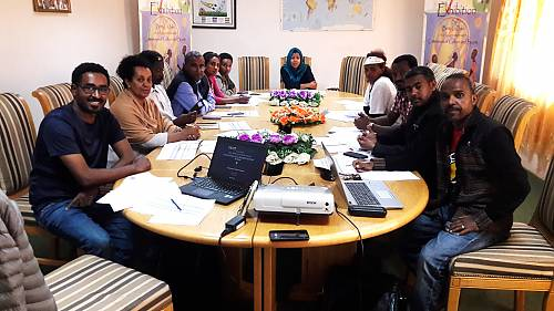 Members of Eritrea's National Committee for the Safeguarding of the Intangible Cultural Heritage