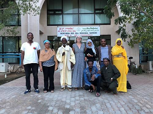 The evaluation team in Massawa with Tigre community members who were part of the inventory fieldwork carried out in 2017