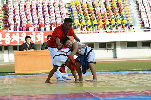 Traditional Korean wrestling (Ssirum/Ssireum) - intangible
