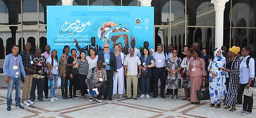 Participants in the training, Exhibition 'Intangible Cultural Heritage in Africa', Moufdi-Zakaria Palace of Culture, Algiers, Algeria.