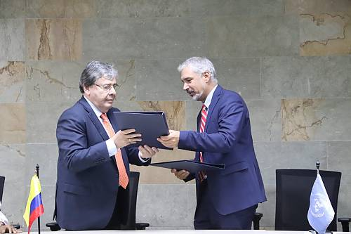 The Republic of Colombia and UNESCO formalize their cooperation for the organization of the 14.COM