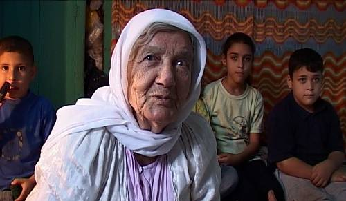 82-year old Safia AbulHeja originally from Haifa, a refugee in Jenin Camp talking about the Hikaye and its narration