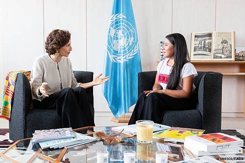 Nomination of Jalitza Aparicio as UNESCO Goodwill Ambassadour